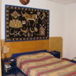 One of the beds in my room, Hotel Independence, Segou