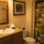 Guest bathroom of the 2-Bedroom unit