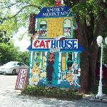 cat house sign