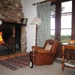 Cosy fire and wonderful local wines make for a romantic evening