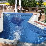 The outdoor jaccuzi