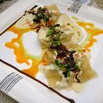 Ravioli dish at Bistro
