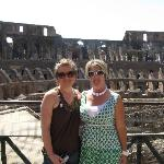 my daughter and I at the Colosseum
