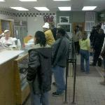 Line inside of Long's Bakery on a Wednesday afternoon at 4:30pm