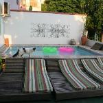 Plunge pool on terrace