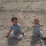 Enjoying some sun and sand.