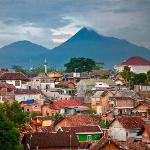 Yogyakarta is situated in the Ring of Fire right next to Mount Merapi (Indonesia's most active v