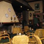 Restaurant zitje met open haard
