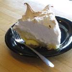 Lemon meringue pie.  Nice!