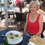 Mussel chowder at Slip Inn