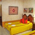 Rooms have hand made furniture and paintings