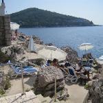 The cliff rock beach