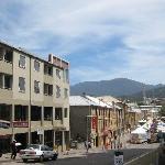 View of Salamanca Place from car park