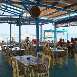 The Yialos taverna in front
