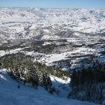 """View half way down the """"No Name"""" trail at Snowbasin"""
