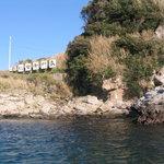 島に渡る船から写しました