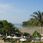 Resort beach and lagoon