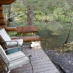 Deck outside the cabin