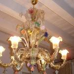 chandelier outside our room