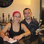Sarah and Stephen at the Mara House Bar