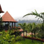 The Springs Resort and Spa. If not for the fog, this place would get a perfect view of Arenal Vo
