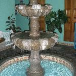 Fountain in the small courtyard