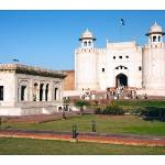 Entrance to Lahore Fort and Ranjit Singh's pavilion