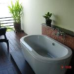 The bath on our balcony