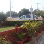 outside of hotel shikha