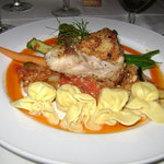 grouper with pasta pockets