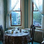 View of breakfast nook...