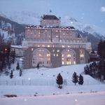 L'hotel visto dalle piste di fondo