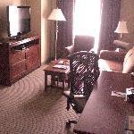 Roomy living room area.