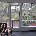 view from the screened in back porch - path to beach!