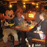 Mickey at our table.