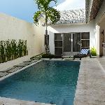 Villa Pool and Bedroom