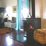 "Cozy up woodstove in ""Little Muddy"""
