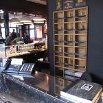 reception on corner of bar
