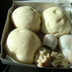 The Holy Trinity -- Manapua (char siu bao), Pepeiao (har gao) and Pork Hash (siu mai)