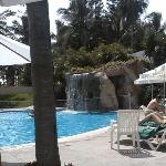 the main pool is just 50 yards from the ocean, but much warmer and cleaner. The rush of water fr
