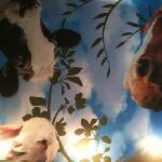 Farmacy Cafe's ceiling brings a smile