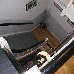 Treppenhaus, unser Zimmer war ganz schon hoch oben
