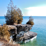 Cave Point County Park, wintertime