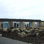view of rooms from the pathway to the public Blue Lagoon