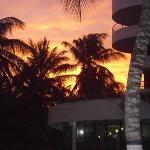 que dire de ce beau couché de soleil caché par ces palmiers....