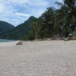 Strand in Khanom wie er jeden Tag ausgesehen hat