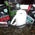 Free coffee & Earl Grey tea