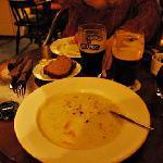 seafood chowder at trade winds inn