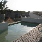 rooftop pool. it's small but refreshing and has jets like a jacuzzi