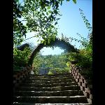 up the steps to los suenos